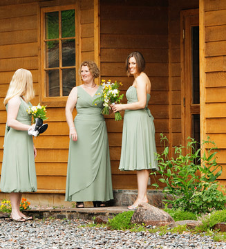 Your bridesmaids' gowns